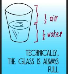 The Glass is always half full!